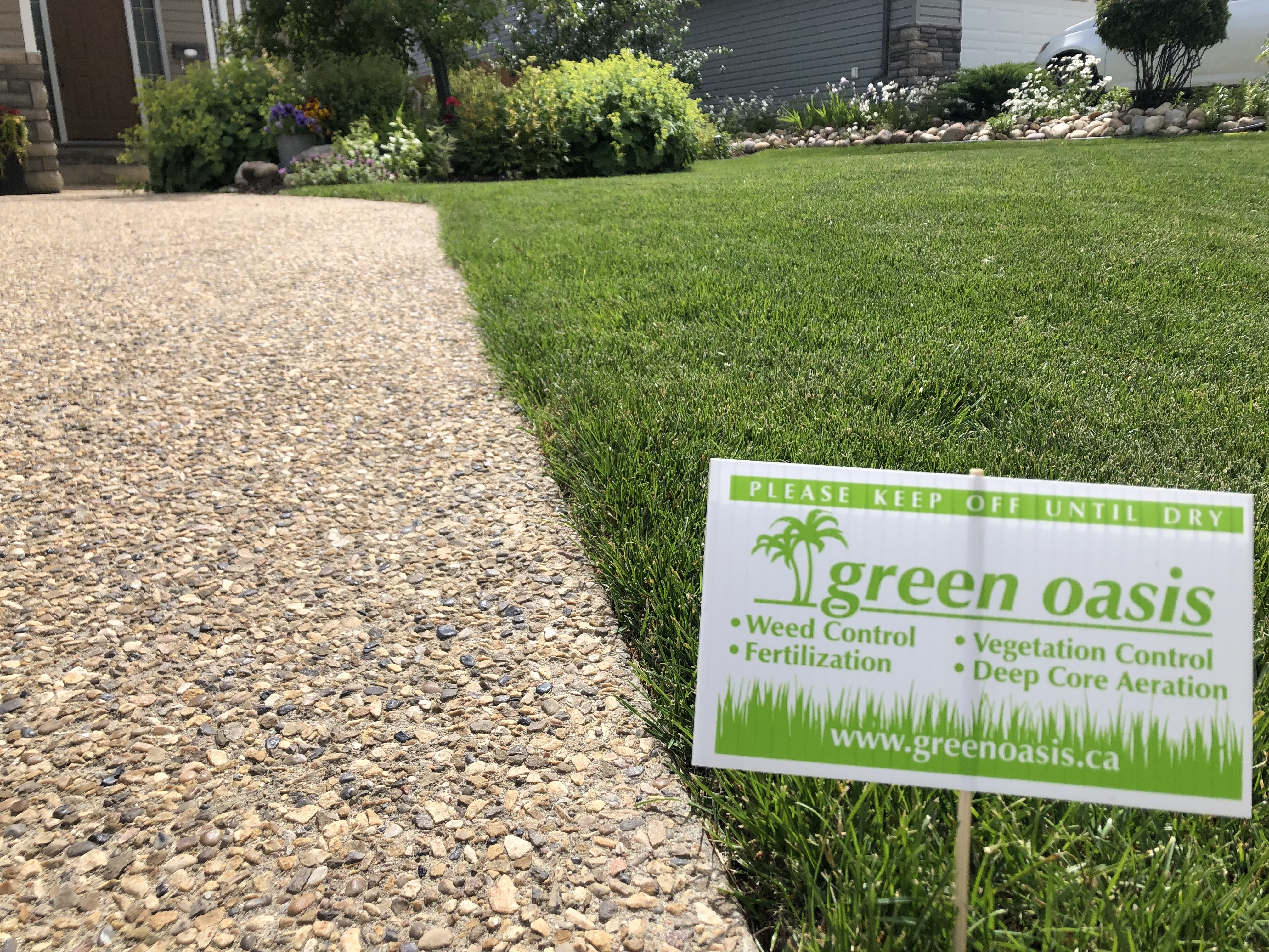 You'll see Green When you Check out this Lawn!